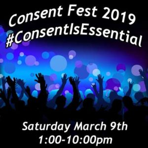event flyer for consent fest 2019